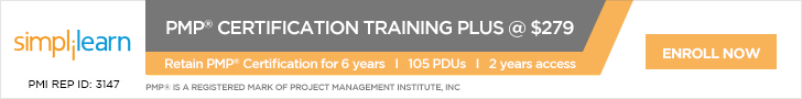 simplilearn PMP project manager course