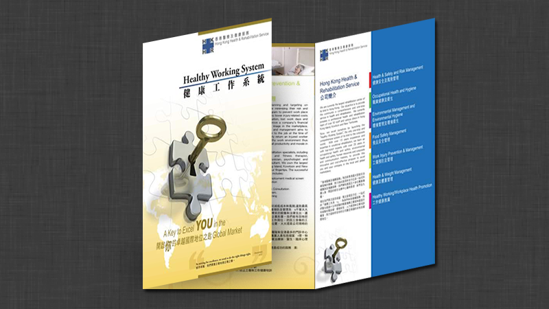 Leaflet for Healthy Working System by Edward Chung