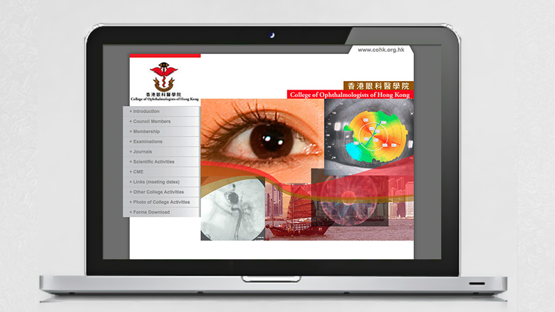 College of Ophthalmologists of Hong Kong Website by Edward Chung