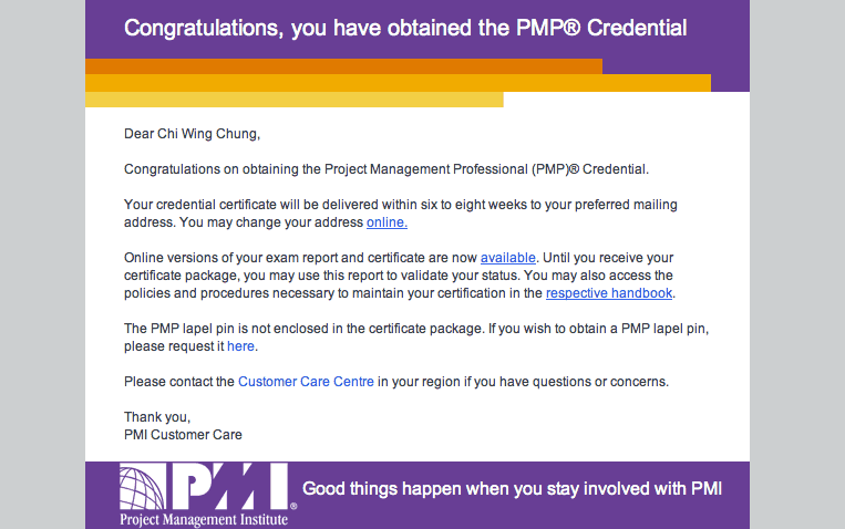 What Would Be Expected After Passing The Pmp Exam New Pmp Pmi