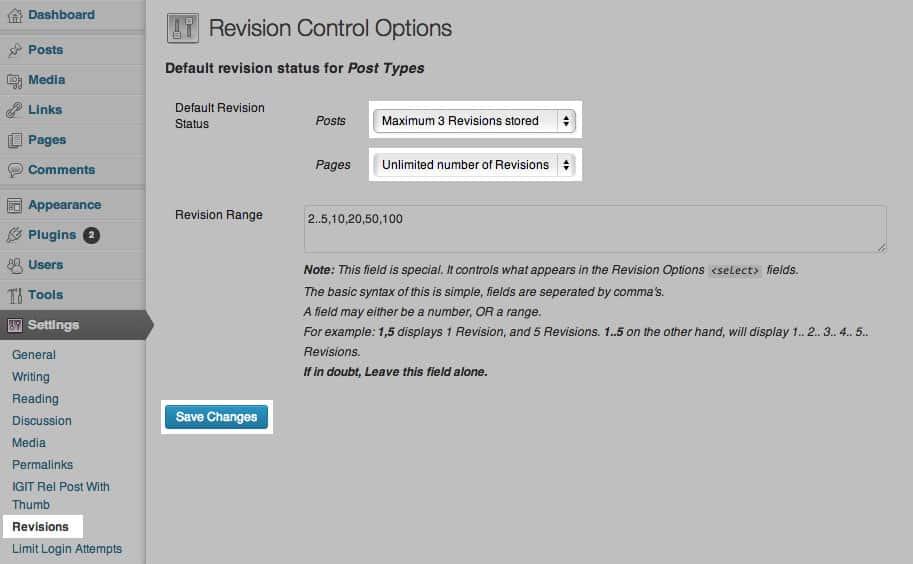 revision control plugin