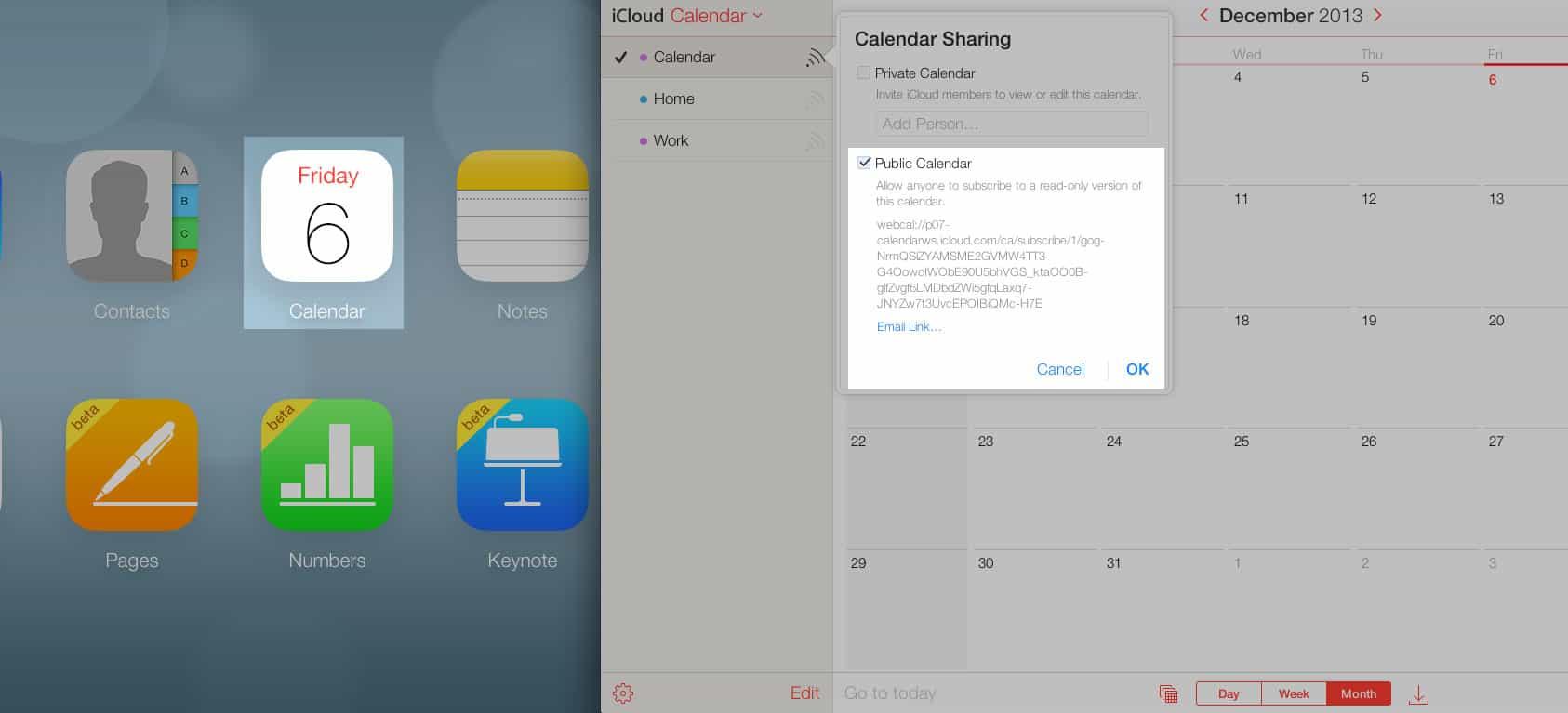 enable ics download