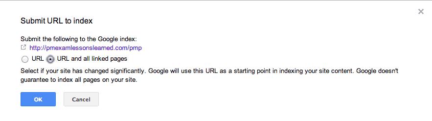 sumit to Google ndex