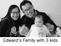 edward family with 3 kids