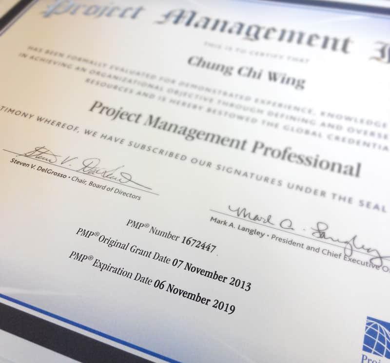 Renewed PMP Certificate