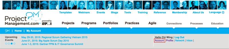 account link at projectmanagement.com