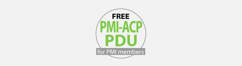 Free Category A PDU for PMI-ACP Re-certification