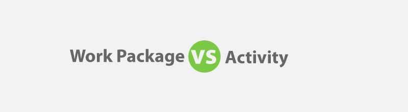 Work package vs activity for the PMP Exam