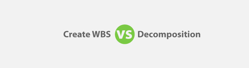 Create WBS vs Decomposition for PMP Exam