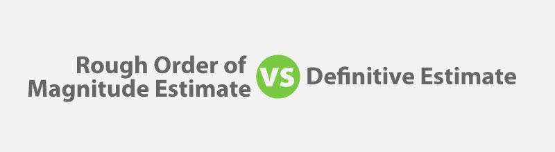 Estimates: ROM vs Definitive for PMP Exam